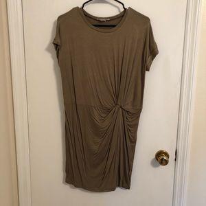 Olive knot t-shirt dress NWOT